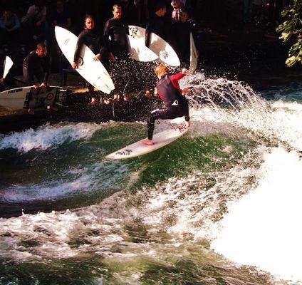 Surf en el río Isar