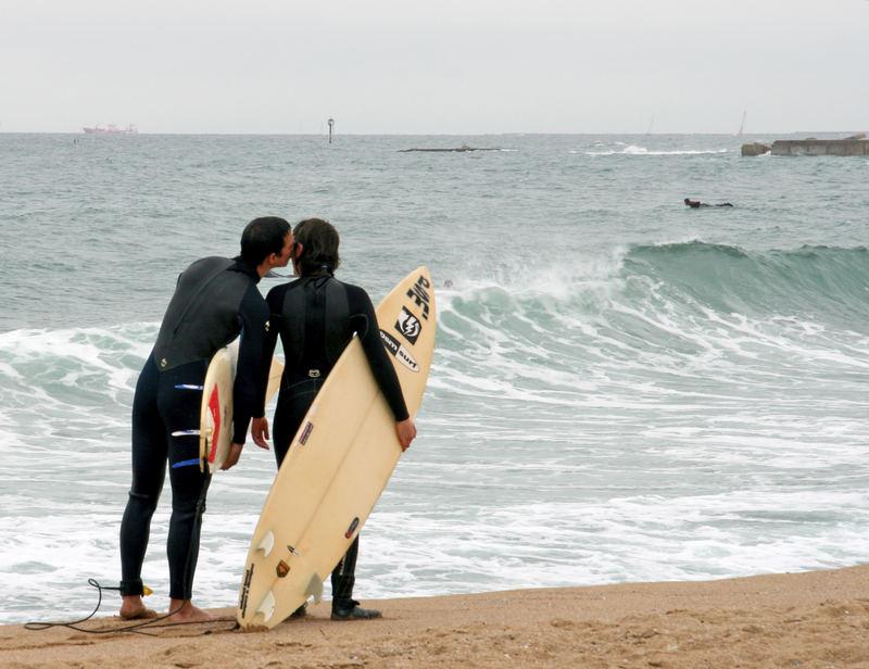 surf y amor en barcelona