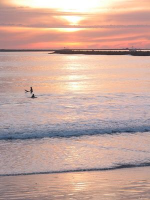 Surfen am Abend
