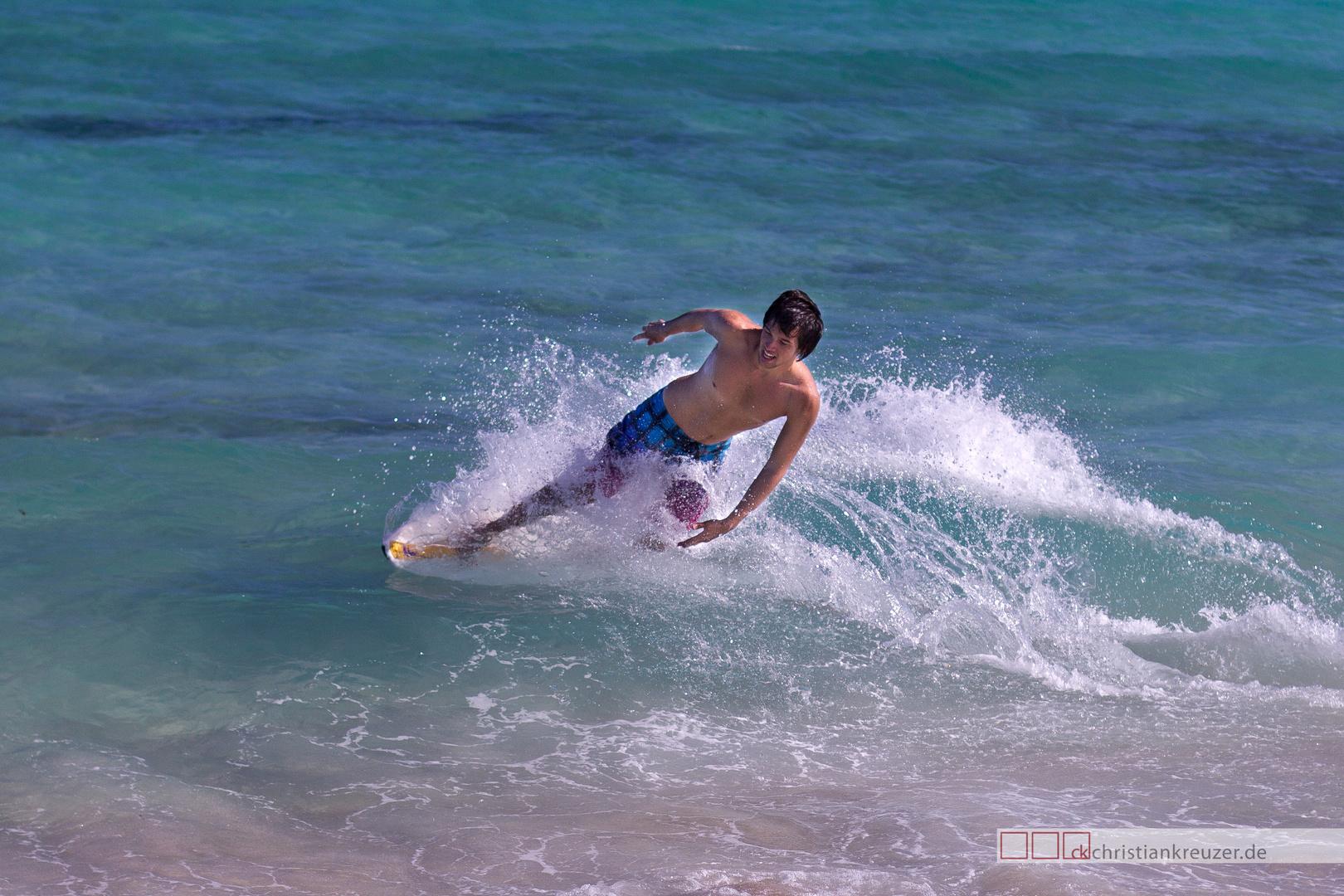 Surfer am Strand von Miami Beach