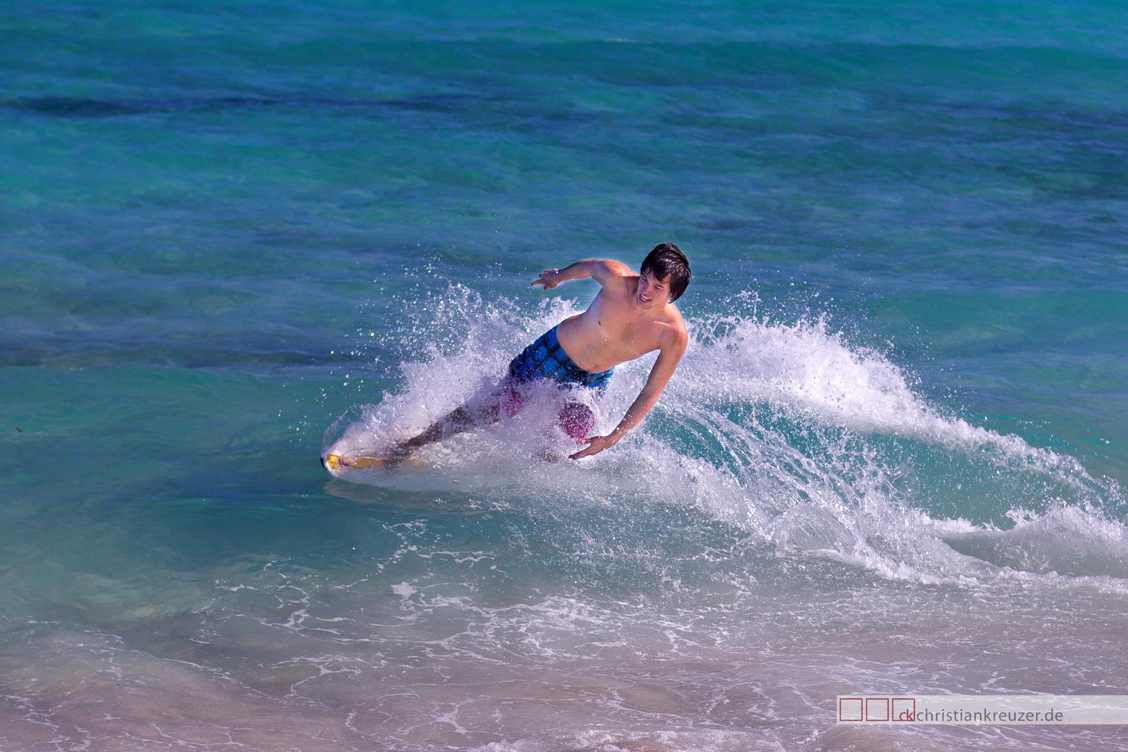 Surfer am Strand von Miami Beach - edit