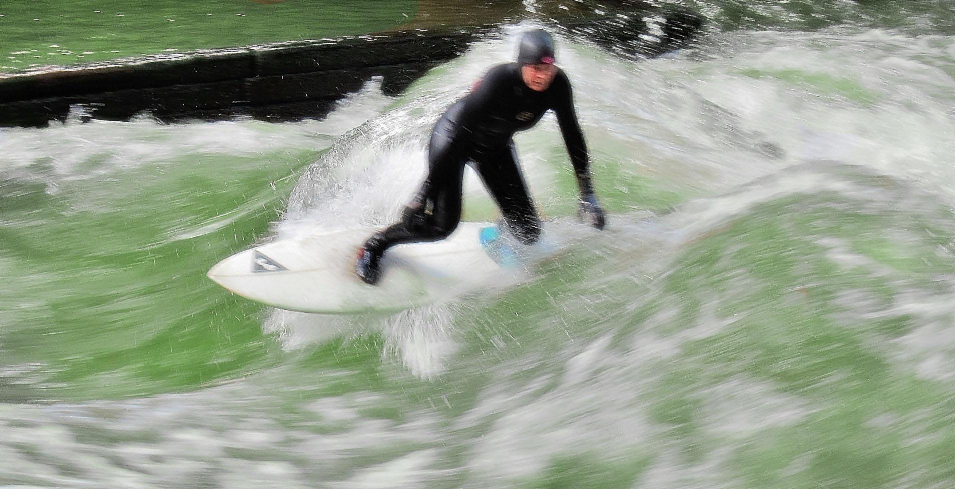 Surfer an Waldmeister