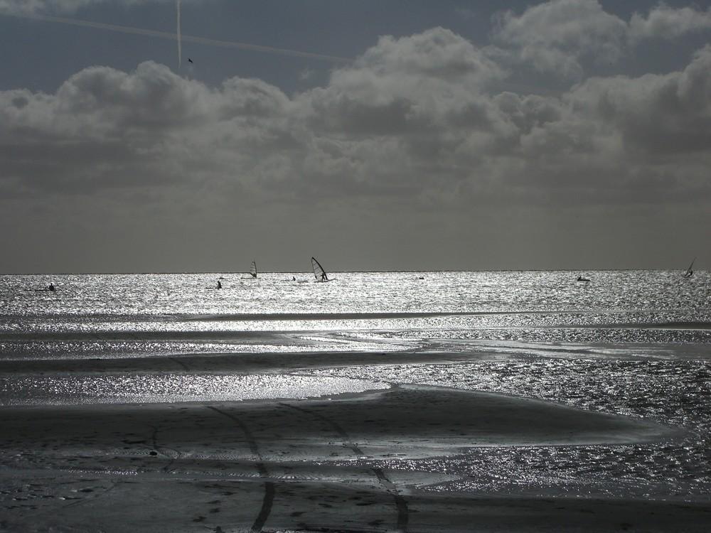 Surfer auf dem Iisselmeer