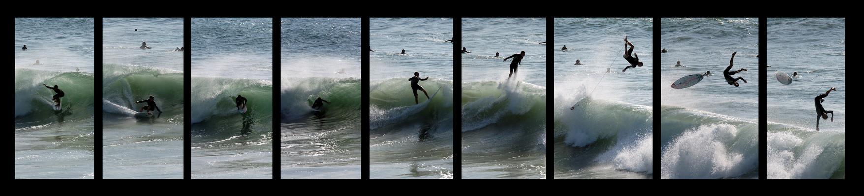Surfer mit Abflug