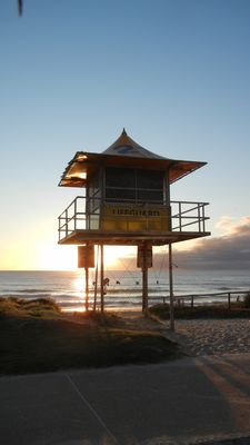 Surfers Watchtower at Miami Beach at Sunrise