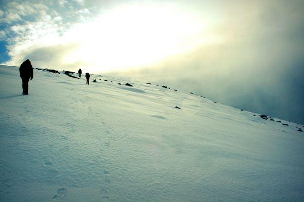 Surreal Hike Into Deep Snow.