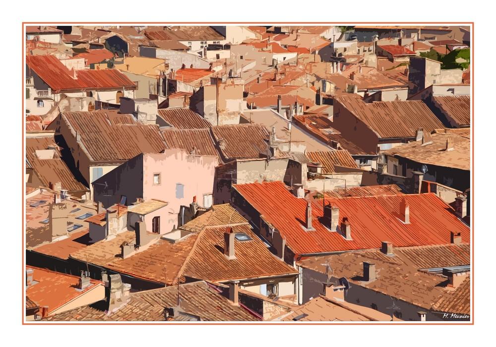 Survol artistique des toits provençaux
