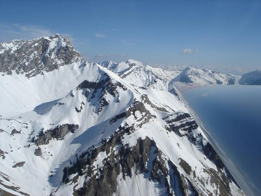 survol des Alpes en planeur