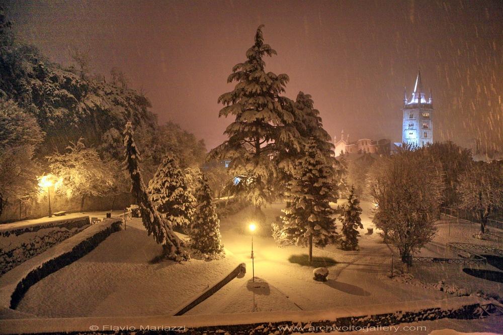 Susa, parco di Augusto sotto la neve