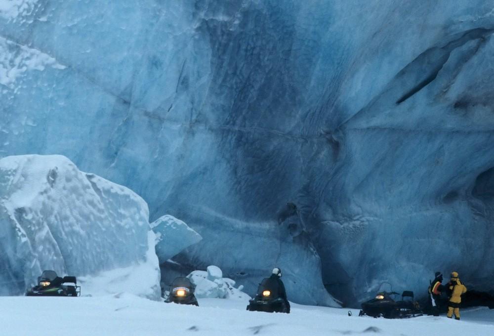 Svalbard Gletschereis