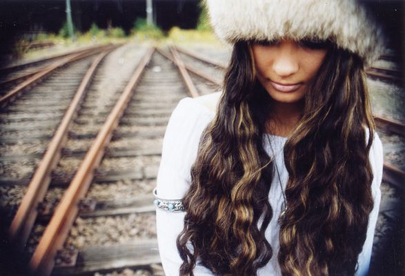 Svetlana auf den Gleisen