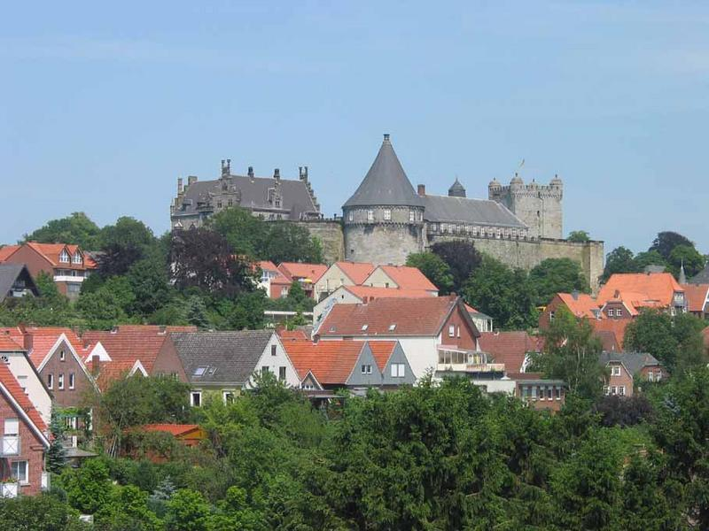 S/W-Ansicht der Burg Bad Bentheim