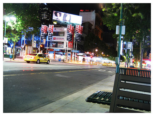 Swanson Street at night
