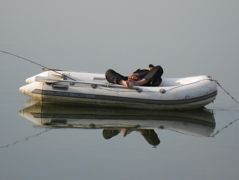 Sweet dream of the fisherman