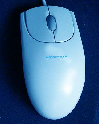 sweet sexy blue mouse