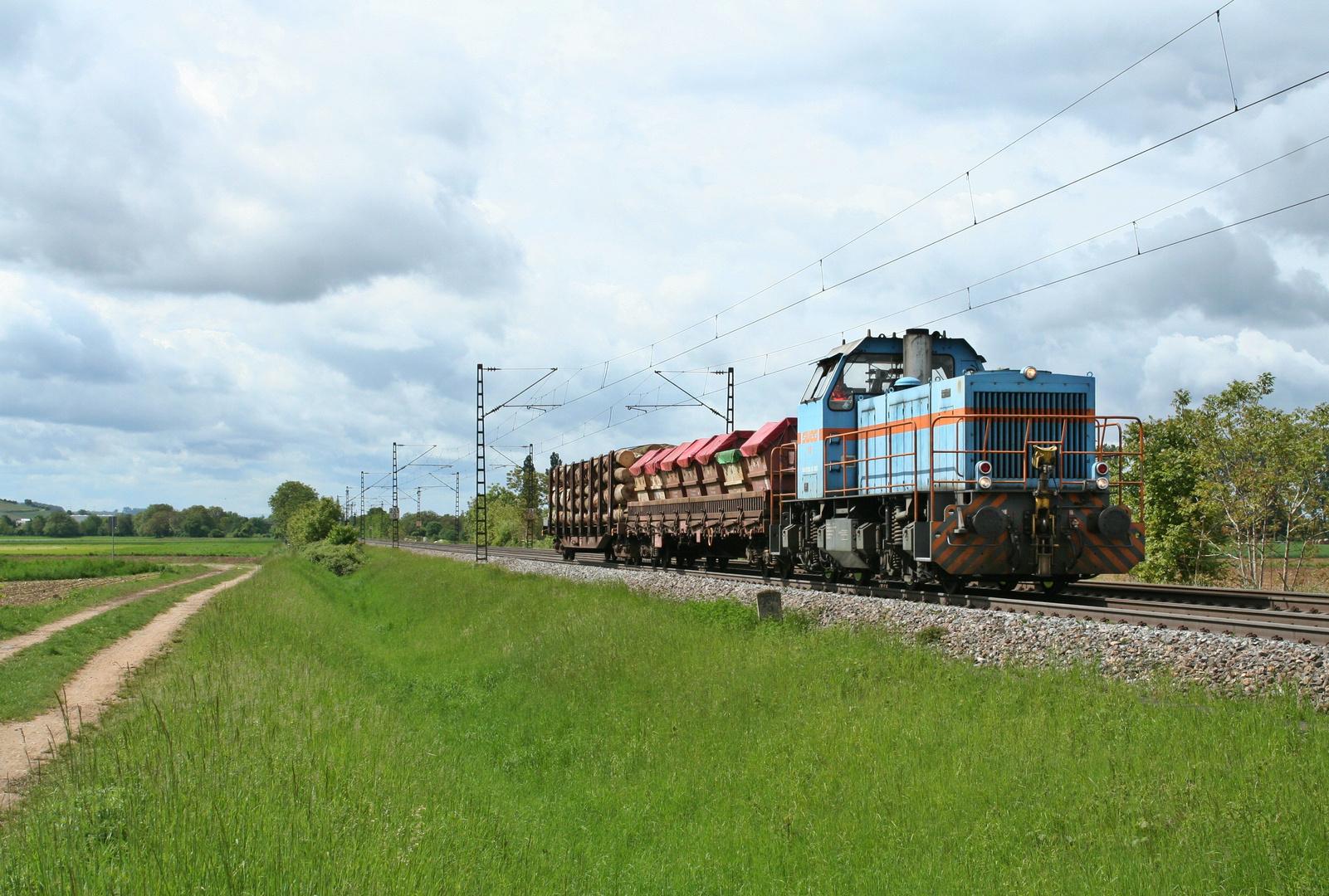 SWEG-Träcker auf der Rheintalbahn