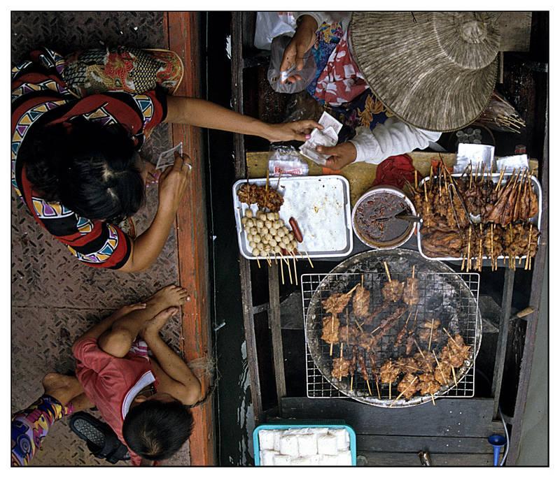 """""""Swimming"""" Market bei Bangkok"""
