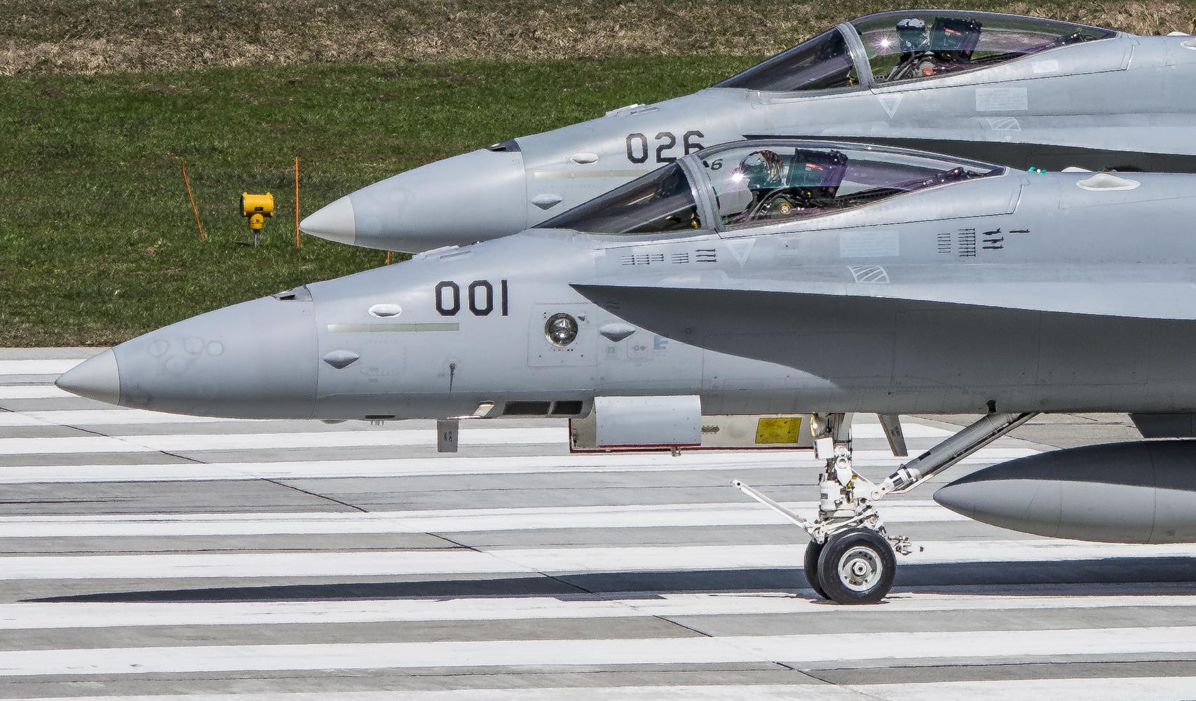 Swiss Air Force Meiringen fertig zu Start
