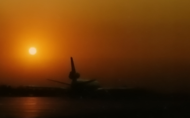 Swissair DC-10 HB-IHA rollt zum Start in Beijing