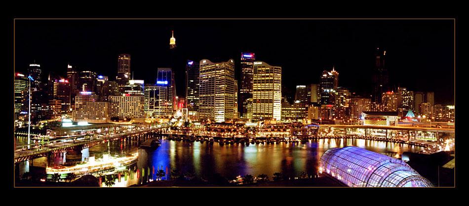 Sydney Dez. 2002 - Blick aus dem Hotelfenster in Darling Harbour