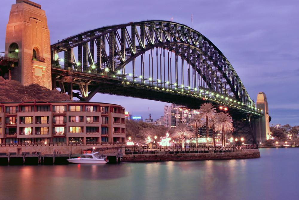 Sydney Harbour bridge IR-UV night shot