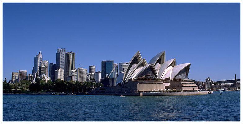 Sydney Opera House und Sydney Skyline