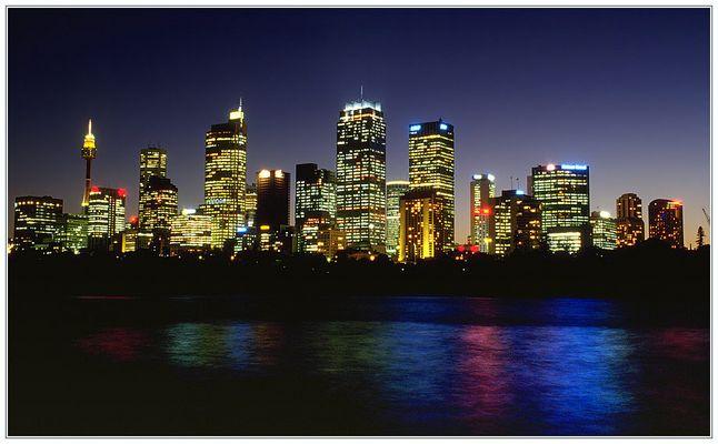 Sydney Skyline bei Nacht