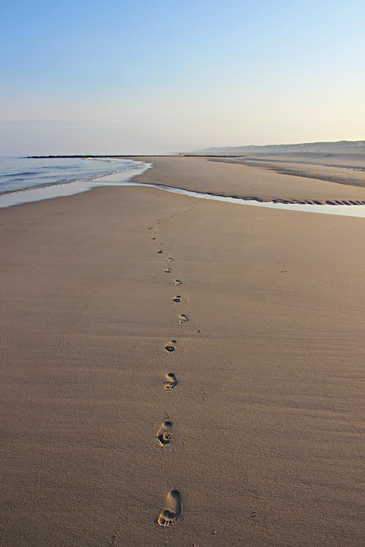 Sylt Impressionen Spuren im Sand
