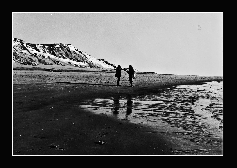 Sylt Winter 1980 / Fachgespräch unter Fotografen