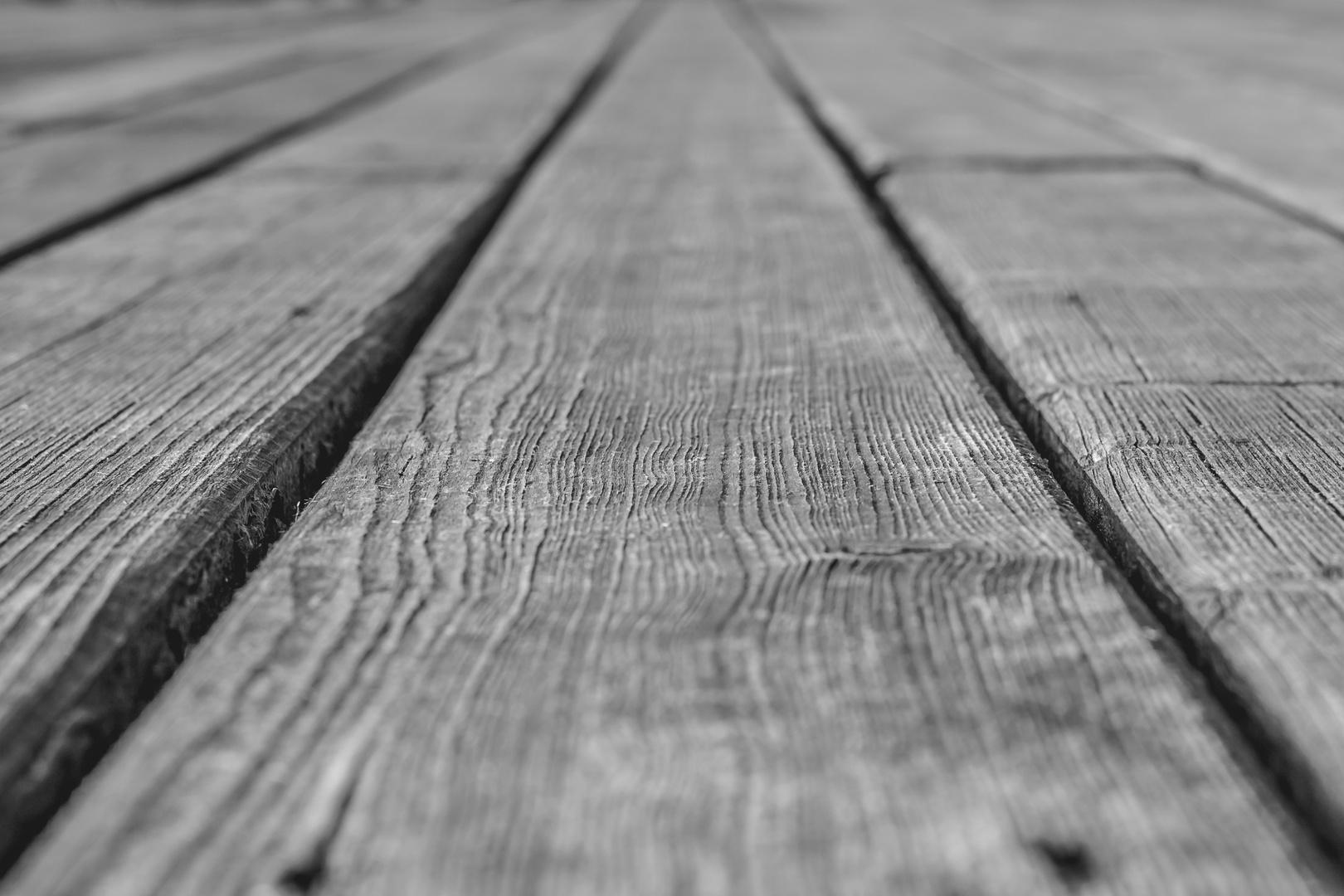 Symmetrie einer Holzterrasse