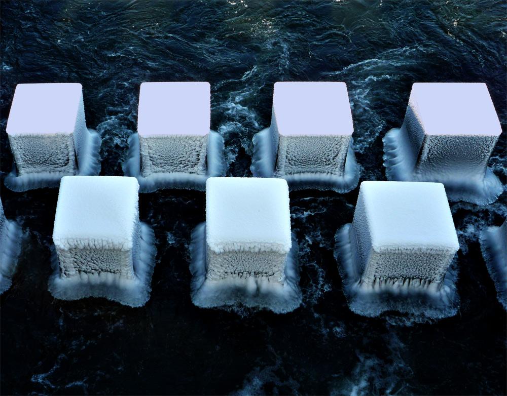 Symmetrie in Eis