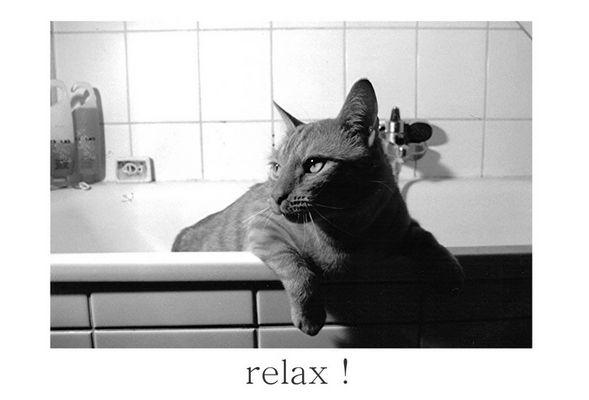 Symon in der Badewanne