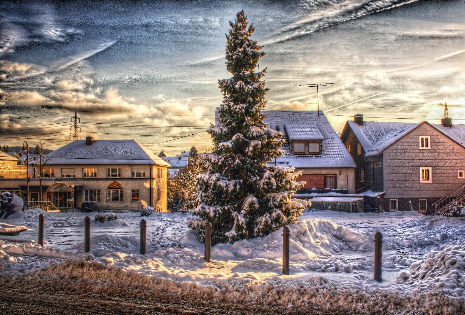 Synagogenplatz Hamm im Winter - HDR