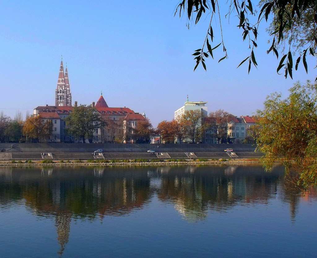 Szeged and Tisza river