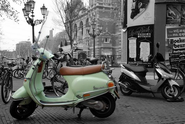 Szene aus Amsterdam Frühling 2009