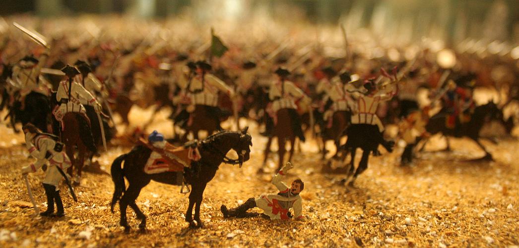 Szene aus der Schlacht von Leuthen im Siebenjährigen Krieg