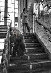 Szene im Treppenhaus