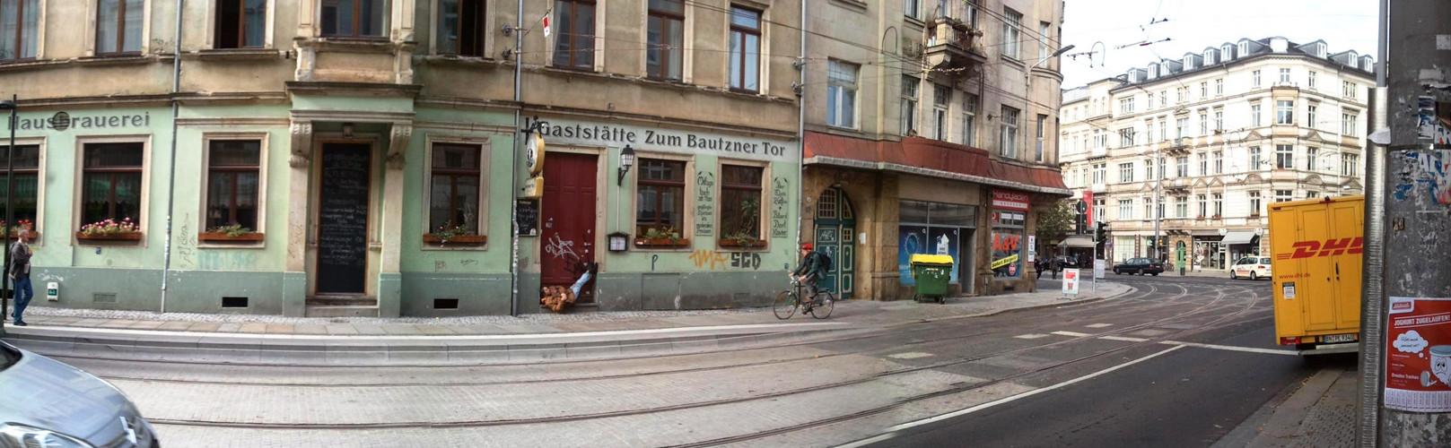 Szene in Dresden-Neustadt