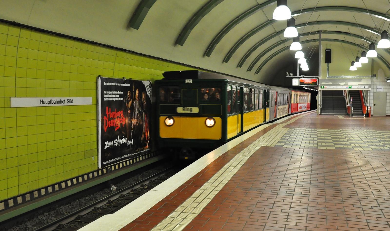 T / TU-Wagen Zug am Hamburger Hbf
