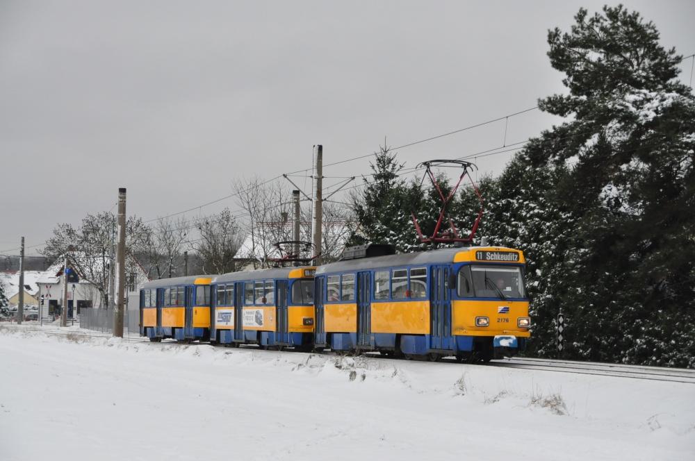 T4D Großzug in Lützschena in Richting Schkeudtz