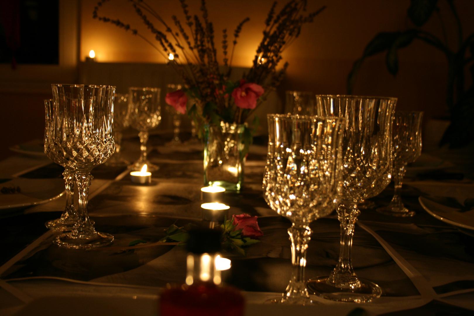 table de chef à la maison