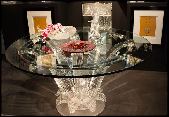 Table en cristal Lalique