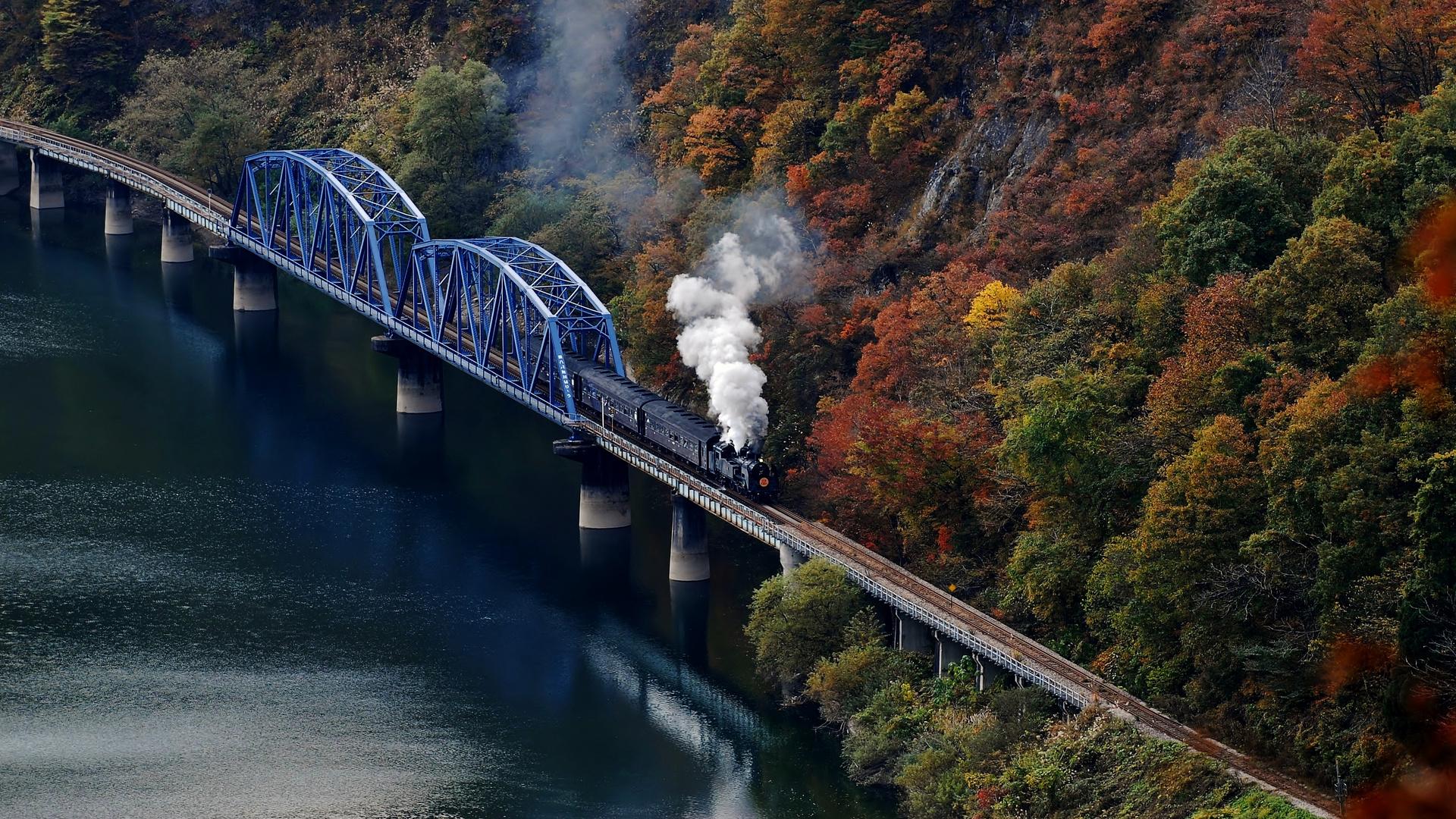 Tadami River Bridge View