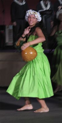 Tänzerin beim Heiva Nui, Pape'ete, Tahiti