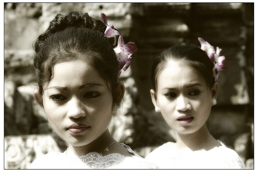 Tänzerinnen Bayon Tempel Kambodscha