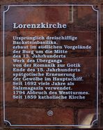 Tafel zur Lorenzkirche Salzwedel