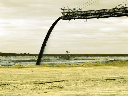 Tagebau - Abschüttung