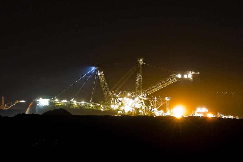 Tagebau bei Nacht!