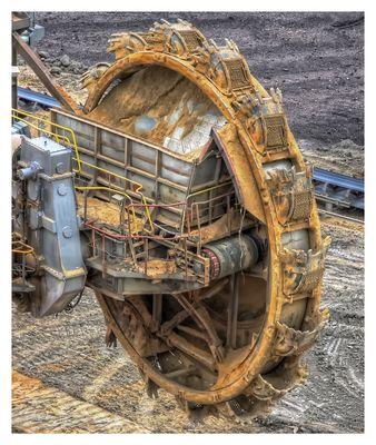 Tagebau Schaufeln