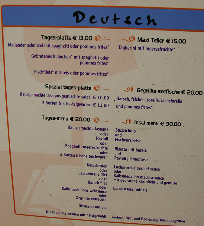 Tages-menu: 2 Sorten frische teichwaren von Petra M. (Main Account)